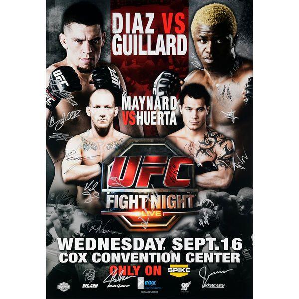 "Fanatics Authentic UFC Fight Night 19 Diaz vs. Guillard Autographed 27"" x 39"" 20-Signature Event Poster - $199.99"