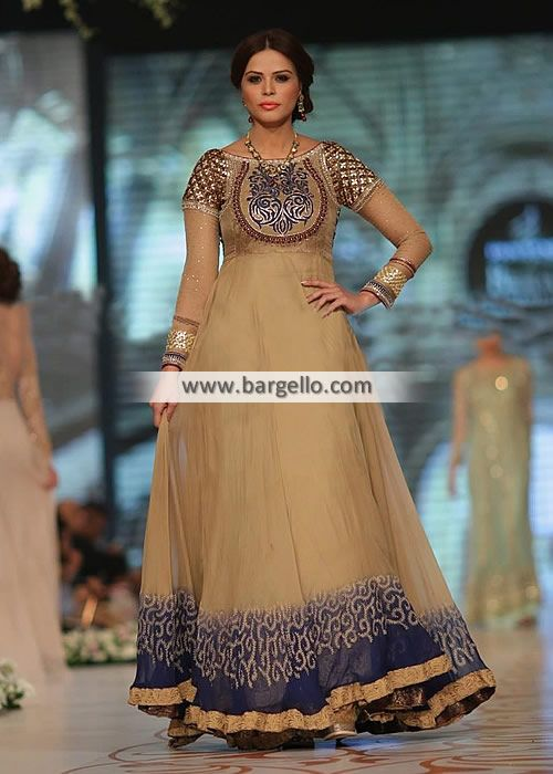 D4809 Graceful #Anarkali Suit for# Evening and Special Occasions #Asifa & Nabeel Anarkali Collection Wixom Michigan Anarkali Suits #Pakistan #PBCW 2014