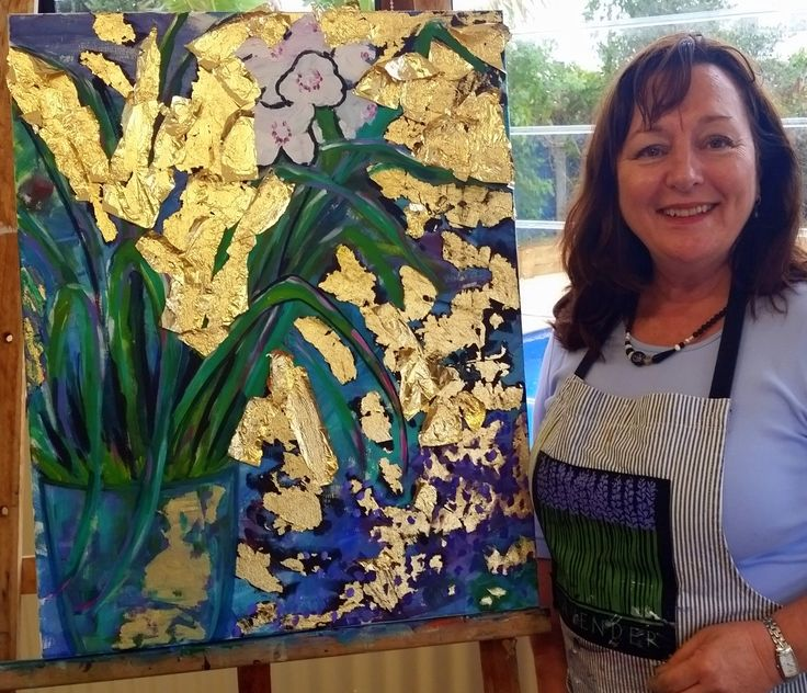 West Coast School of Art - Christine's gold leaf workshop