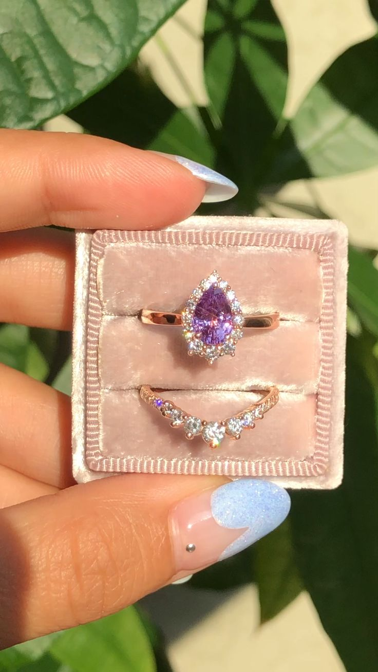 One of a kind engagement ring bridal set by La More Design