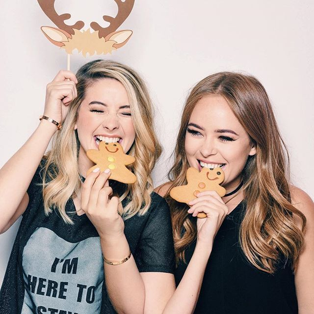 It's not often that you get to feed your friend a gingerbread man on a photo shoot!  love these photos of @tanyaburr & I for @magazinedare! It's out now in Superdrug if you wanna see more photos & read about all things Christmas!