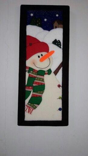 Muñeco de nieve Patchwork sin aguja Navidad