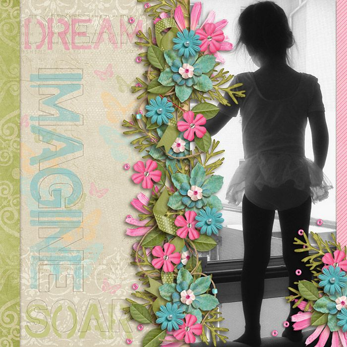dream49  scrapbook page layout#