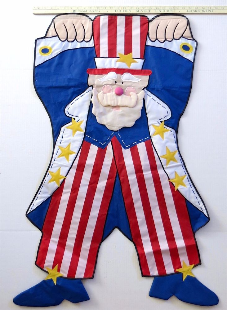 """Uncle Sam USA Garden Flag BIG 24"""" x 44"""" Heavy Duty July 4 Election Double Sided #Unbranded"""