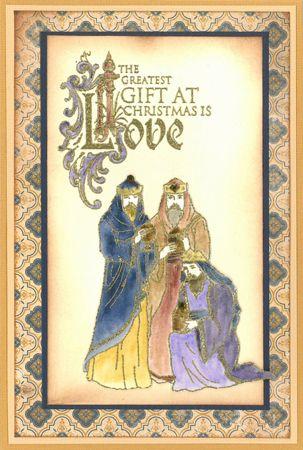 Stamp-it Australia: siset113 Three Kings, siset088 Love - Card by Susan