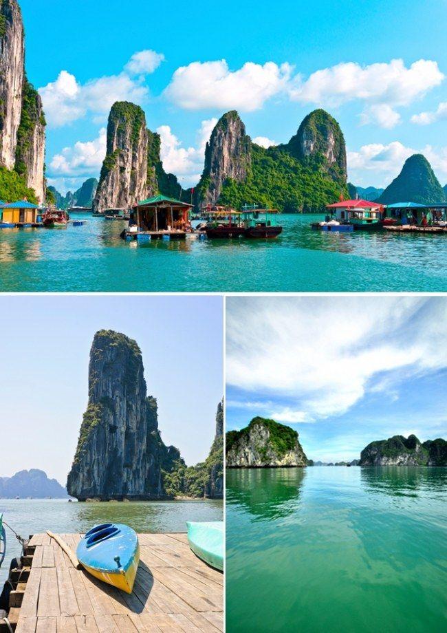 Zatoka Ha Long, Wietnam <3 Jedne z najbardziej malowniczych scenerii na świecie. Oprócz widoków uwodzi również orientalną kuchnią