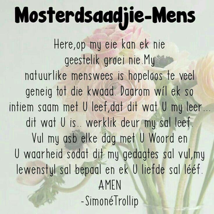 Mosterdsaadjie-Mens gebed (Simone Trollip) #Afrikaans #2bMe #Prayer