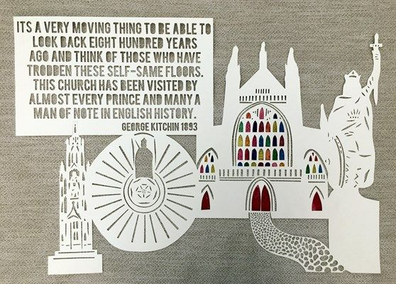 Winchester is a city in the county of Hampshire, on the edge of England's South Downs National Park. It's known for medieval Winchester Cathedral and for being the United Kingdom's capital city before London. My post card being based around famous Winchester landmarks, king's, people and streets through paper cutting.  #TGBPC #takethebigissue