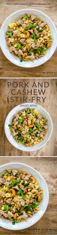 Pork and Cashew Stir-Fry Recipe [Paleo, Keto] #paleo #keto #recipes - http://paleomagazine.com/pork-cashew-stirfry-recipe-paleo-keto