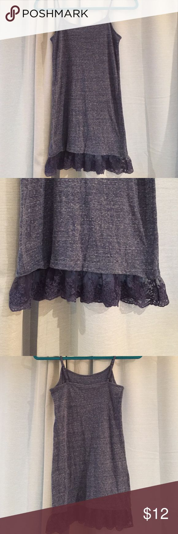 NWOT. Adorable Navy Mini Dress. NWOT. Adorable Navy Mini Dress with Lace Detail. Would be an adorable bikini cover up for beach or pool days. Extremely soft material. Dresses Mini