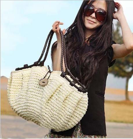Women bag summer style handbags fashion 2016 totes designers Straw bag woven…