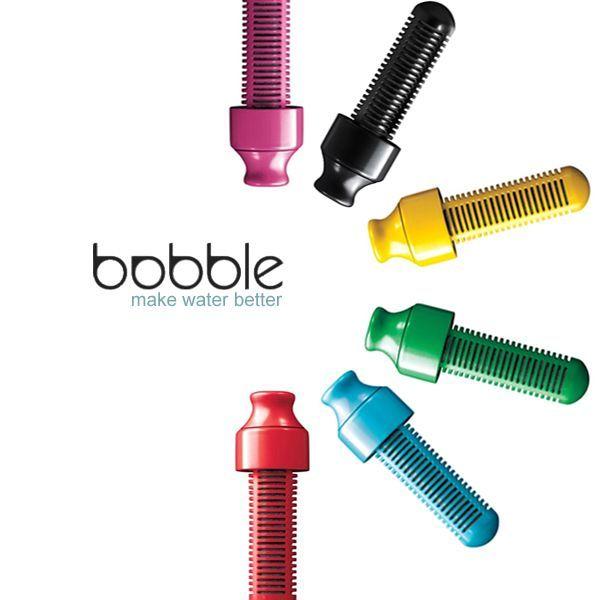 El filtro Bobble es hecho a partir de carbono y elimina el cloro y otros contaminantes orgánicos del agua del grifo.