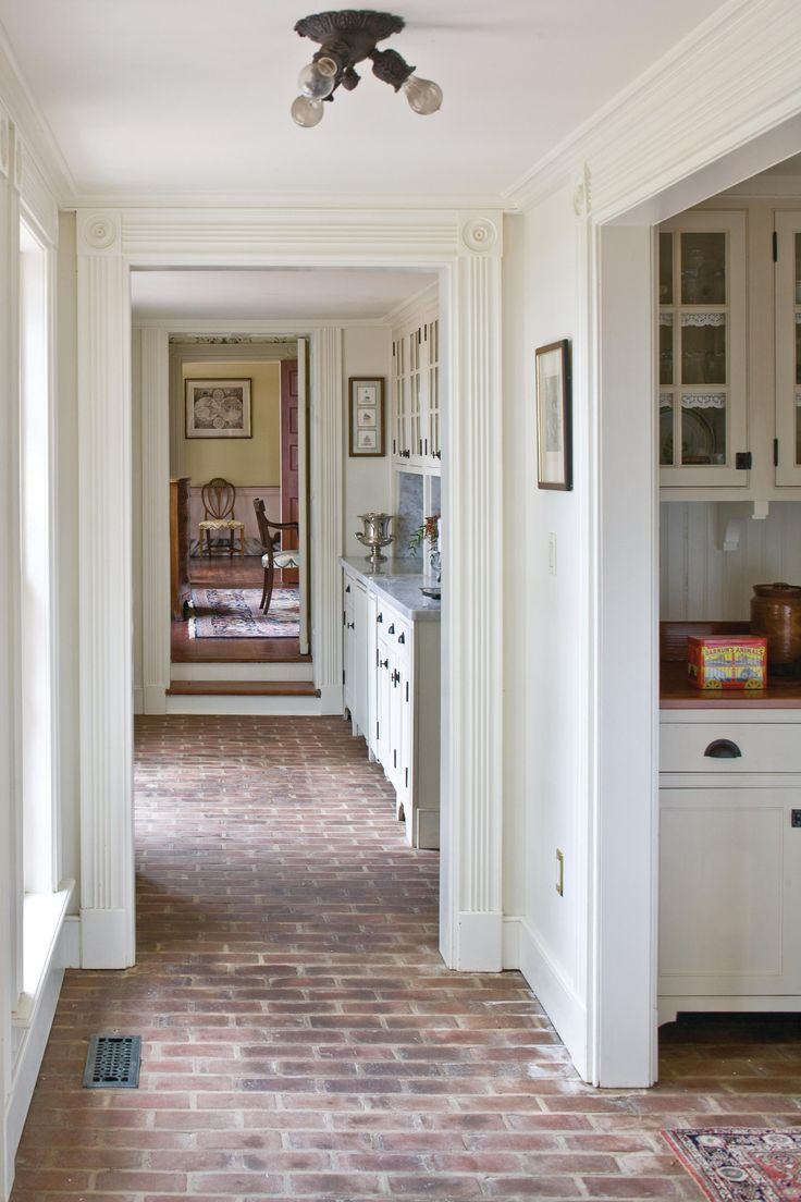 Red brick flooring kitchen - Find This Pin And More On Red Brick Love Brick Floors