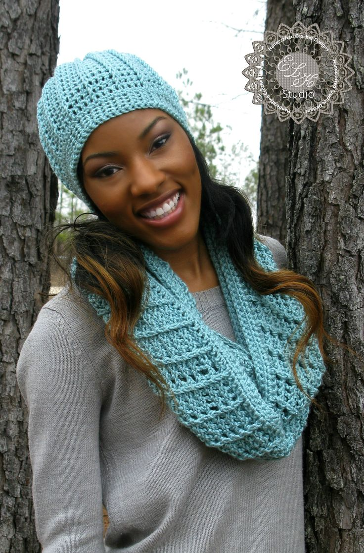 Country Appeal Free Crochet Beanie Pattern  Matches the Country Appeal Infinity Scarf.  Now we get the set!
