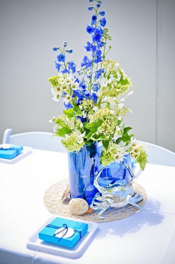 7 best images about seascape flowers on pinterest 4th Ocean Theme Wedding Centerpieces Ocean Theme Centerpieces