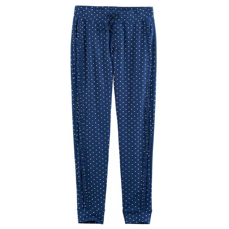 Girls 7-16 & Plus Size SO® Ruffled Jogger Pants, Size: 12, Dark Blue