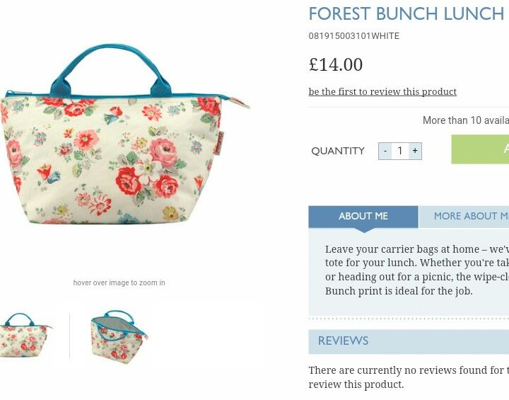 Cath Kidston Forest Bunch Lunch Bag £14