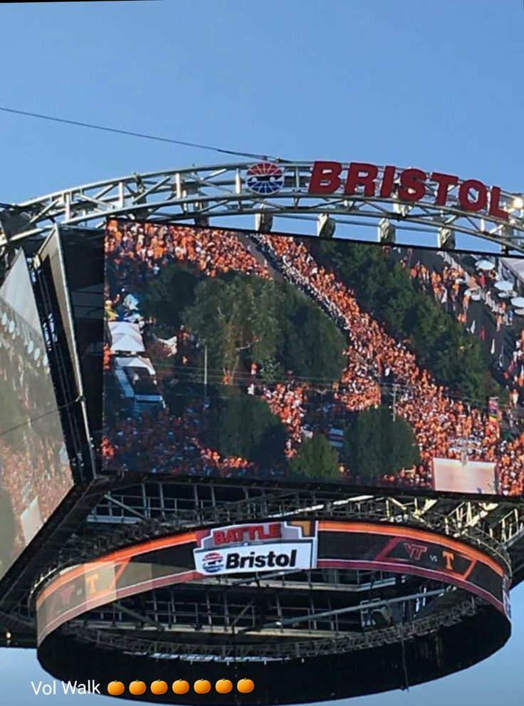 Jumbotron at Battle Of Bristol!