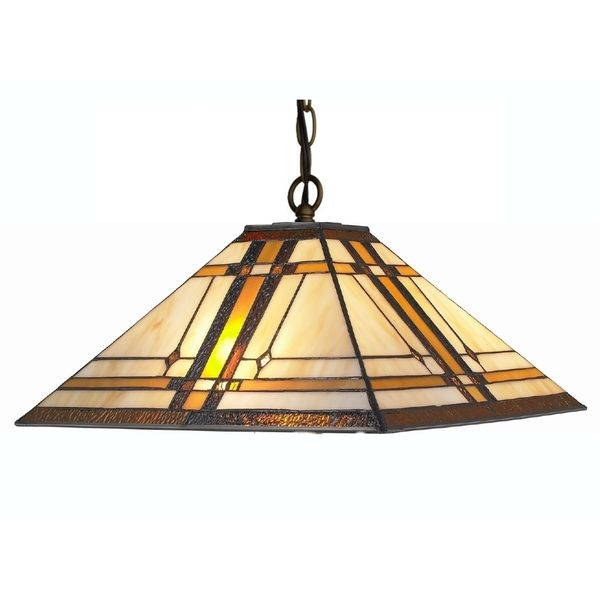 a79 amora lighting tiffany style mission 2light hanging lamp