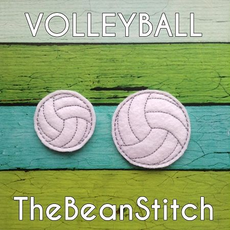 Volleyball Feltie Bean - 2 Sizes included!  PLUS Bonus!  #thebeanstitch #beanstitchers #TBS #ith #inthehoop #machineembroidery #felties #feltie #embroidery #digitaldownload #keyfobs #bagtag #diy #snaptab #snapbean #handmade #vinyl #felt #craft #etsy #shopsmall #embroiderygift #travel #everyday #design #multipurpose #sports #volleyball