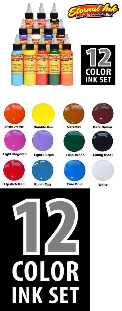 Tattoo Inks: Eternal Tattoo Ink Sample Set Pack Of 12 Basic Colors 1 2 Oz Bottles Size 15 Ml -> BUY IT NOW ONLY: $69.99 on eBay!