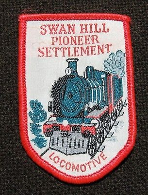 Swan Hill,Pioneer Settlement,Locomotive-Souvenir Woven Cloth Badge in Collectables | eBay