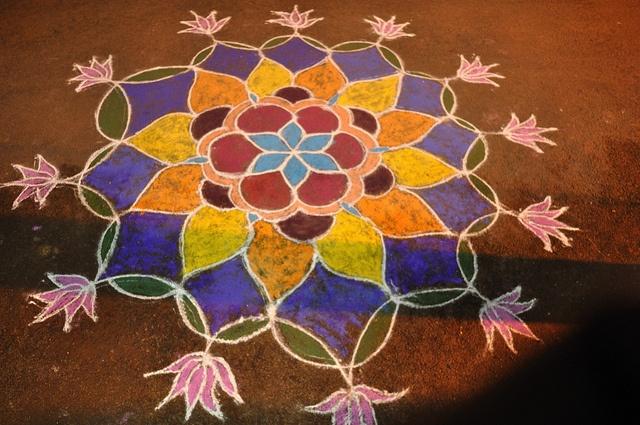 south India kolam - senthil murugan rajan