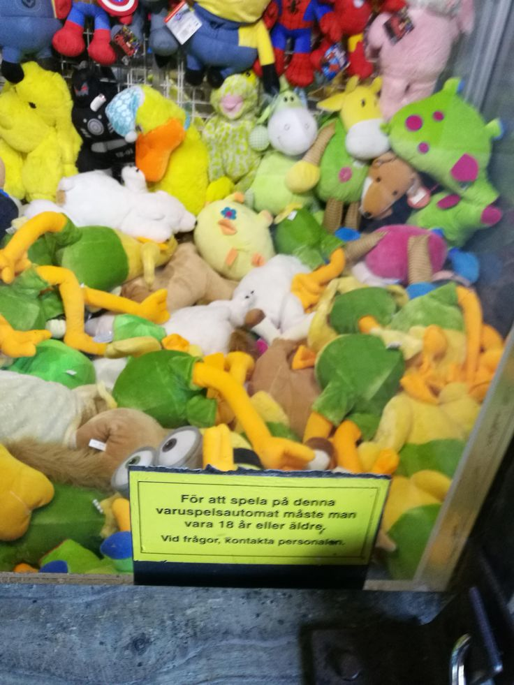 This claw machine is restricted to > age of majority.