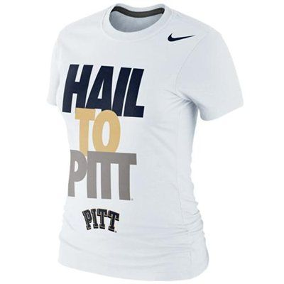 Nike Pittsburgh Panthers Ladies Hail to Pitt 2013 Local T-Shirt - White. @Kris Jarchowán Örn Kjartansson Taggart looking at you!