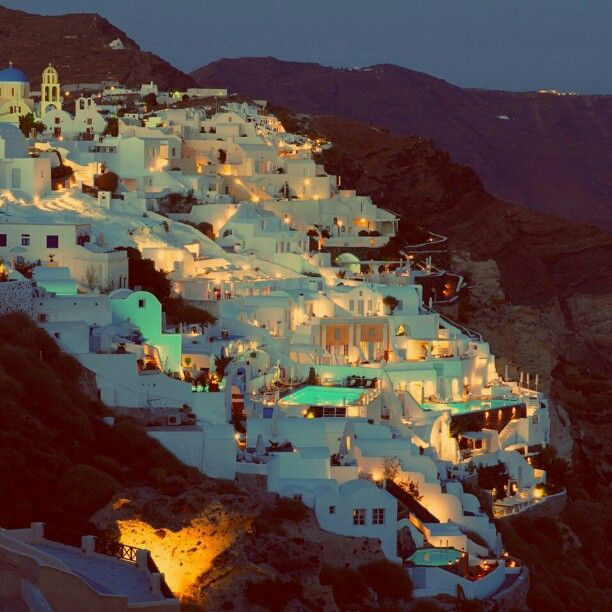 And when the sun goes down, the magic can begin...  #Santorini #AndronisExclusive