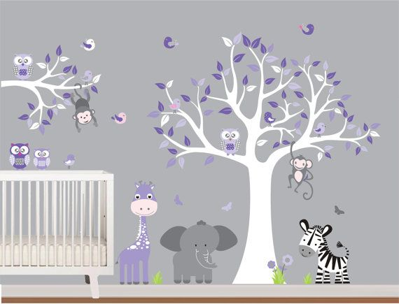 Best Images About Cuarto De Mi Chiquita On Pinterest Trees - Nursery wall decals jungle