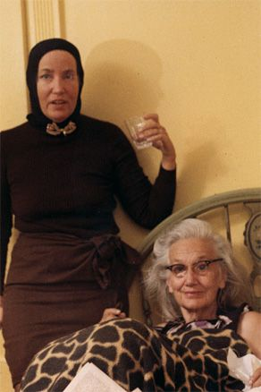 "Little Edie and Big Edie Beale. Grey Gardens, 1975. ( Laidley & I) "" Whiskers?!"""