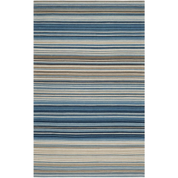 Safavieh Hand Woven Marbella Cream/ Blue/ Black Wool Rug (6u0027 X