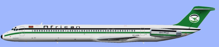 African Express Airways,  McDonnell Douglas MD-82 '5Y-AXN'