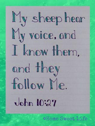 Home Sweet Life: John 10:27