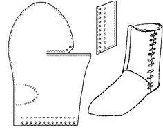 turnshoe  - medieval boot pattern