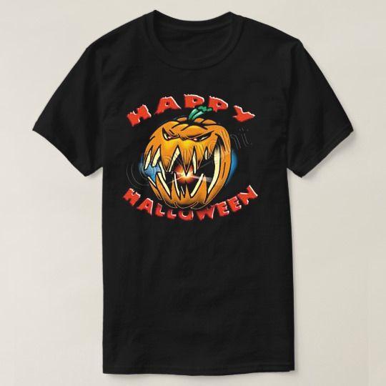 Evil Pumpkin Happy Halloween Custom Shirts