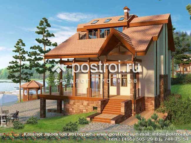 Красивый трехэтажный кирпичный коттедж со спортзалом № E-458-1K