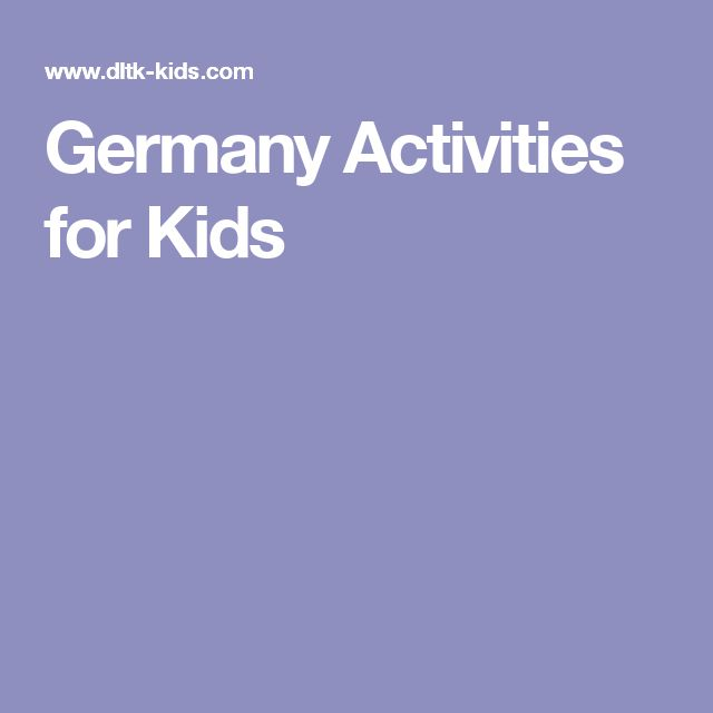 Germany Activities for Kids