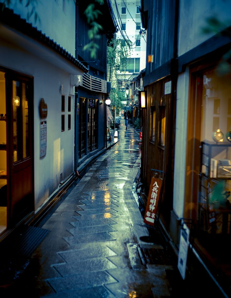 Yanagi-kouji near ShijoKawara-machi, central Kyoto-city, Japan 柳小路 京都