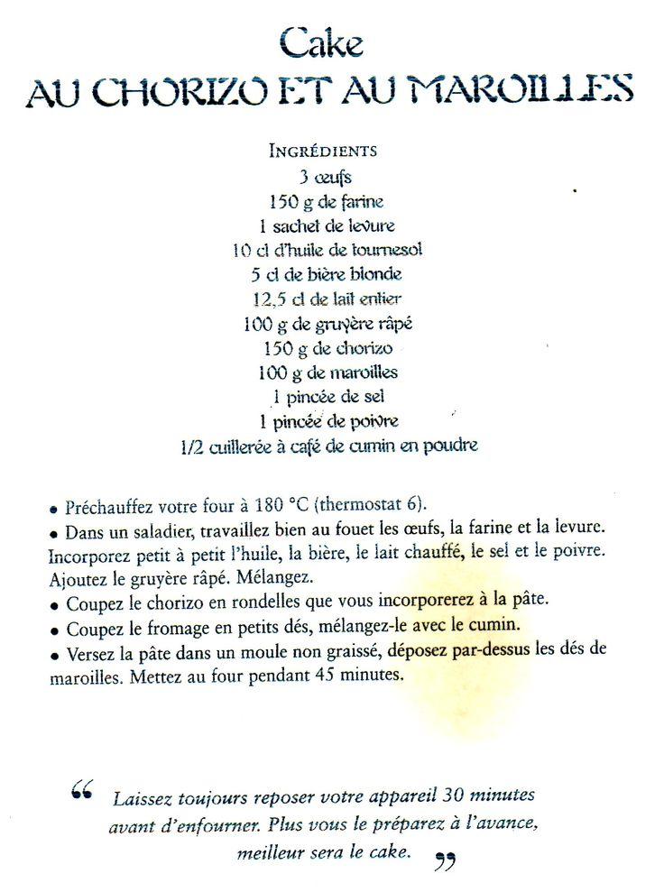 T - Cake au chorizo et au Maroilles (Les cakes de Sophie)