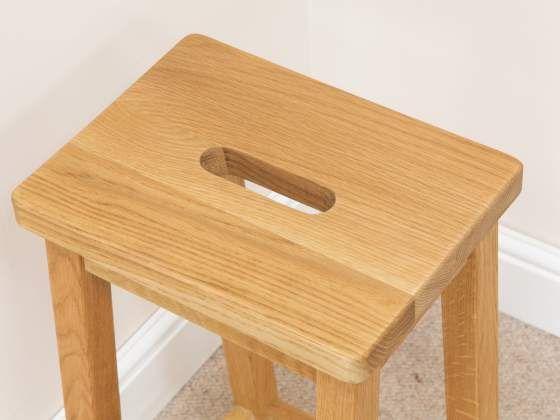 Refectory Solid Oak Kitchen Stool