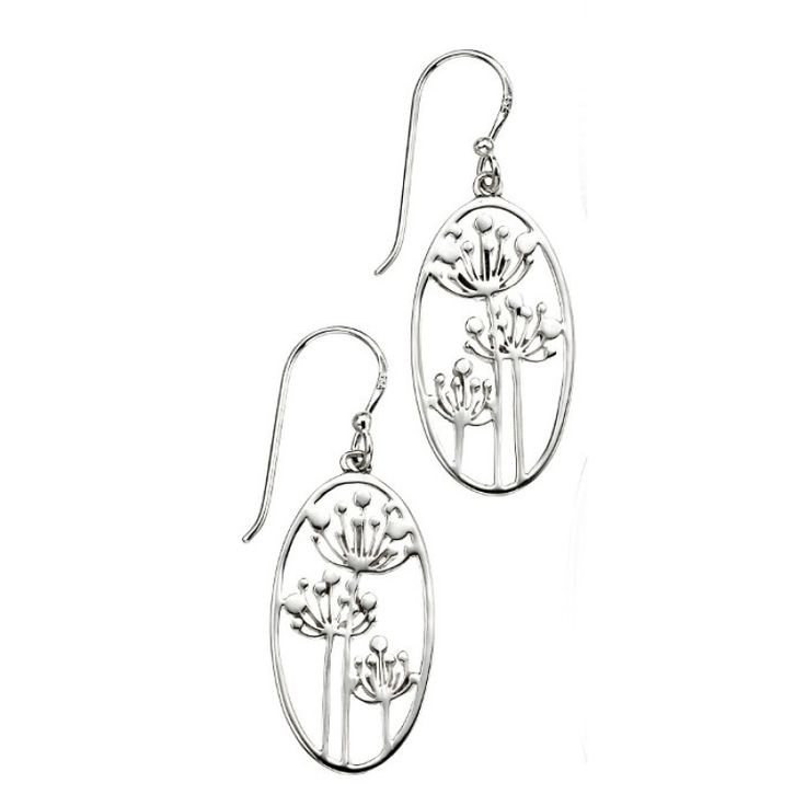 Cow Parsley Design Earrings - Silver #Catherinejones #cambridge #necklace #bracelet #pearls #jewellery #trends #earrings