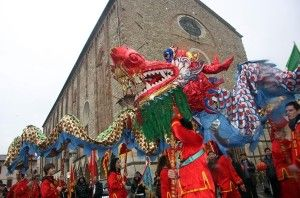 Chinese dragon in #Prato close to #Florence