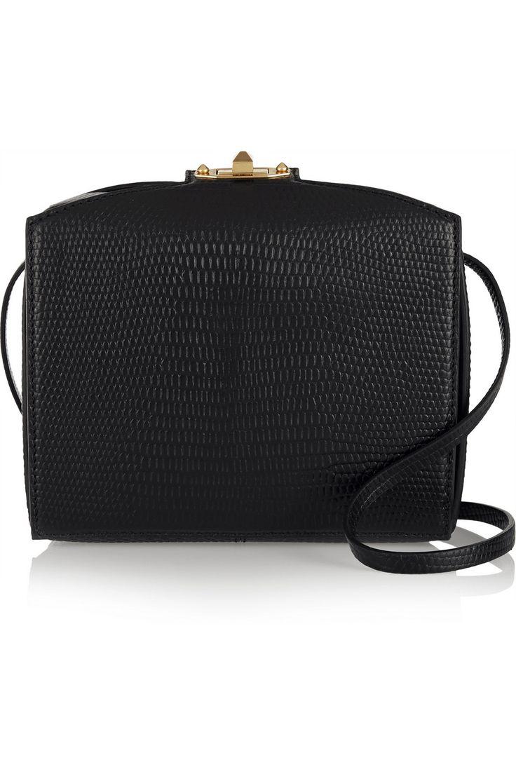 Alexander McQueen   The Box lizard-effect leather shoulder bag (=)