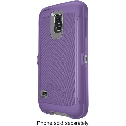 OtterBox - Defender Series Case for Samsung Galaxy S 5 Cell Phones - Plum Punch - Front Zoom