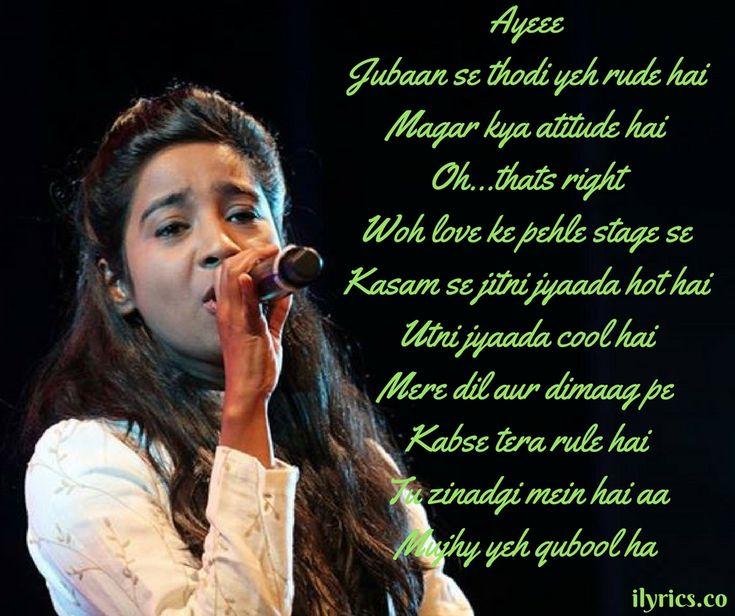 Qubool Hai lyrics From Jeena Isi Ka Naam Hai By Shilpa Rao -