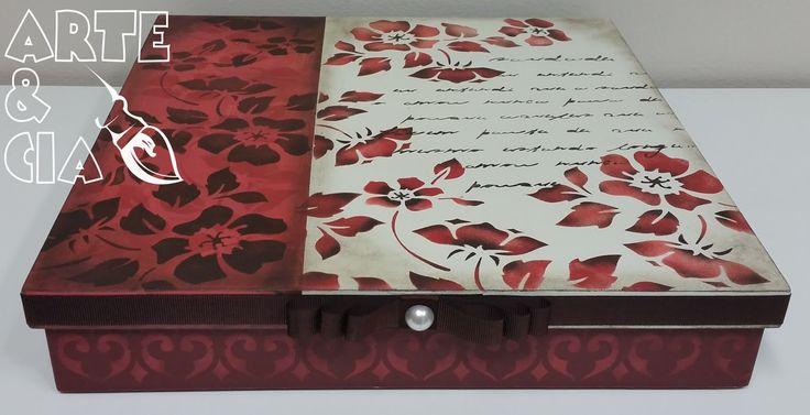 Caixa de MDF de Stêncil com Fita - Arte & Cia 2