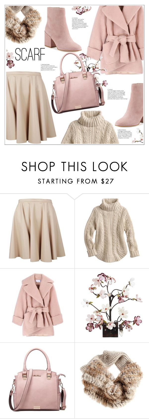 """S"" by stranjakivana ❤ liked on Polyvore featuring Giamba, Carven, Canopy Designs, Sam Edelman, scarf and polyvoreeditorial"