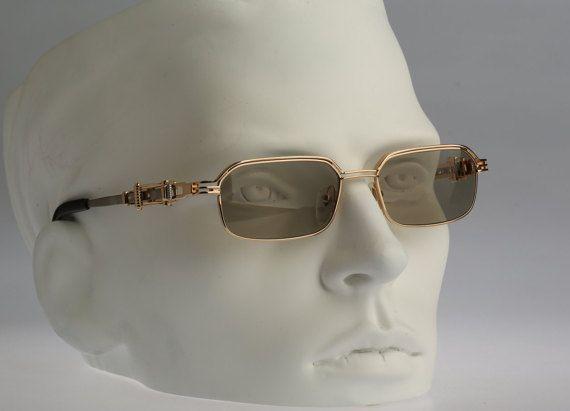 2659e7bc9b Gaultier+56-0002+or+carré+steampunk+vintage+lunettes+de+soleil ...